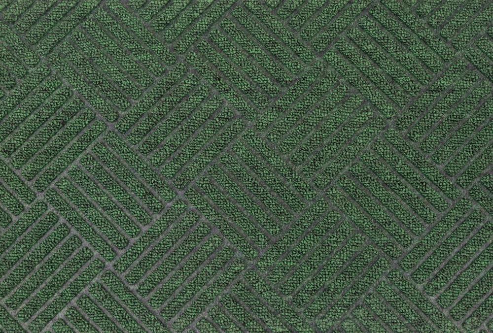 green textured rug