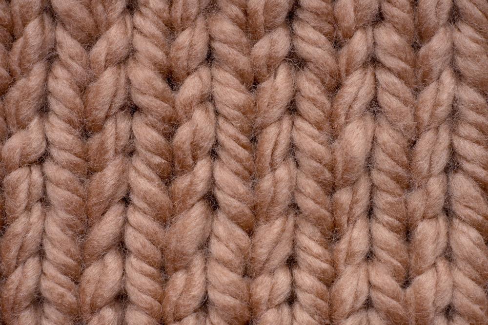Wool yarn texture