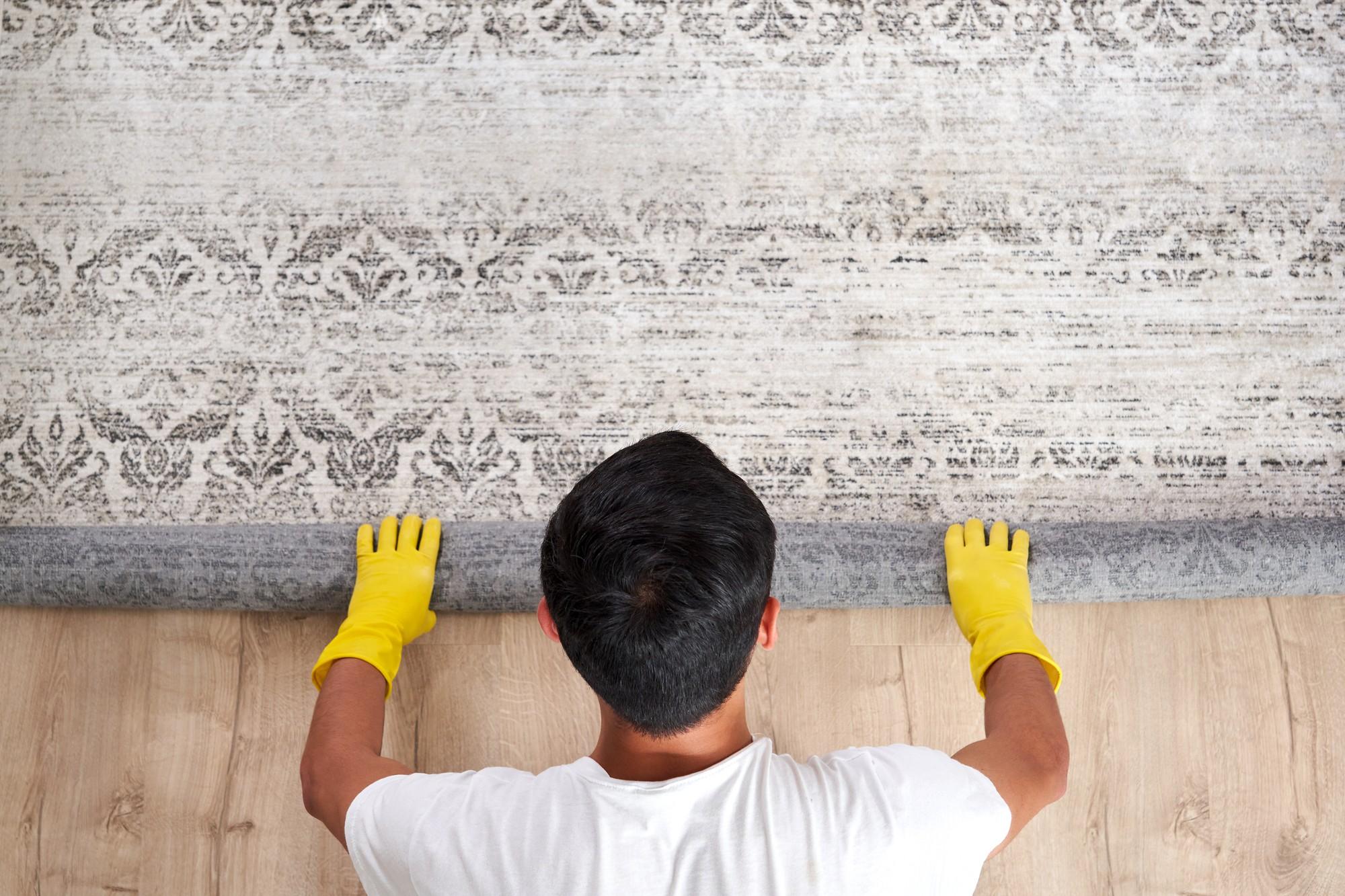 Cleaner rolling rug