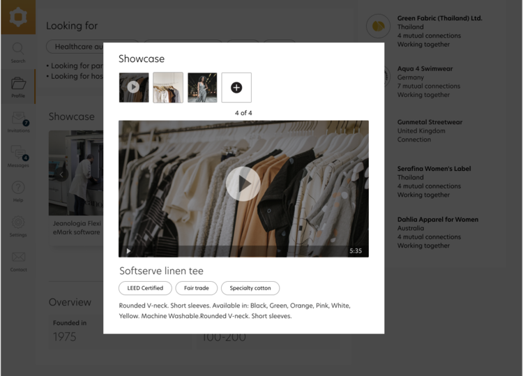 Upload Video to your showcase
