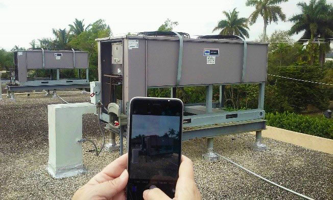 Collecting data using Fulcrum on a roof