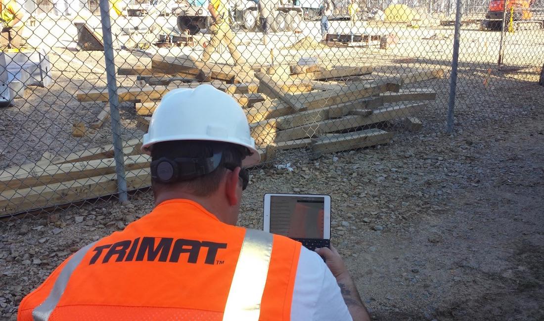 Trimat inspectors using Fulcrum in the field
