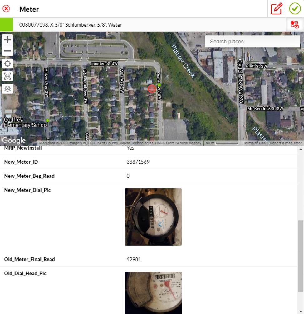 Screenshot of City of Wyoming's Fulcrum data