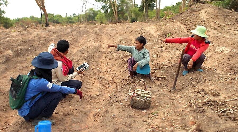 HALO survey teams investigating landmines in the field