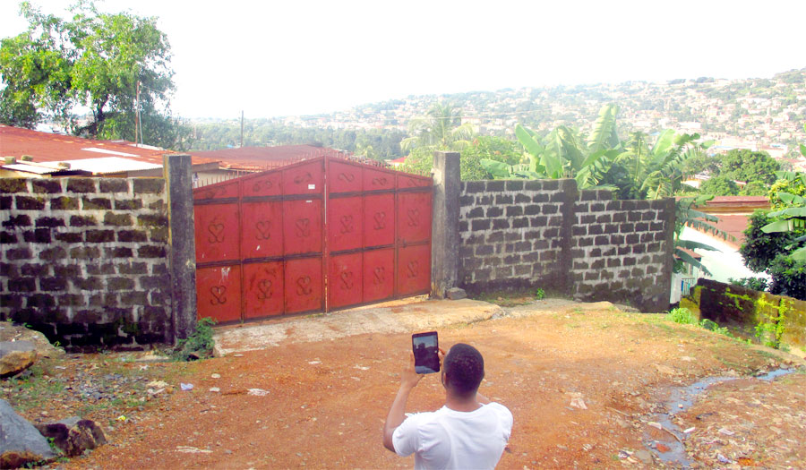 Collecting survey data in Freetown