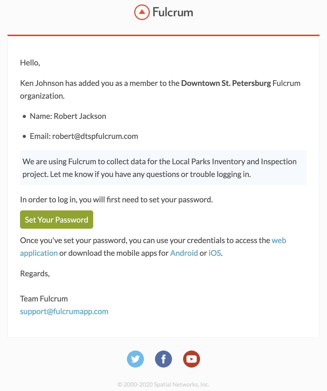 Member Invitation Email