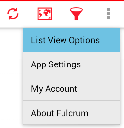 List View Options Action