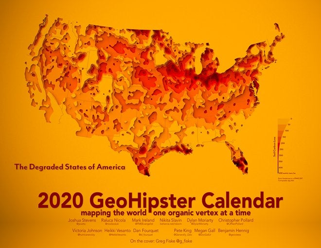 2020 GeoHipster calendar