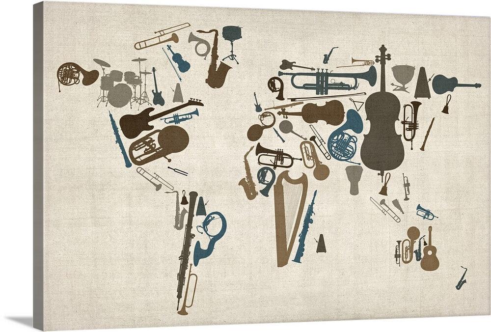 Instruments world map