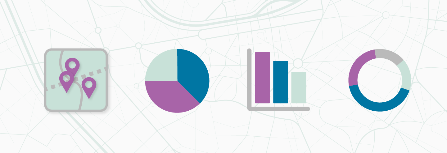 Quantitative data can be visualized in maps, charts, and graphs.