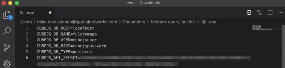 Modify the env file