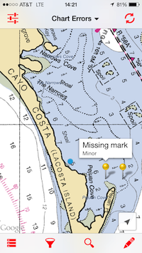 NOAA chart reporting