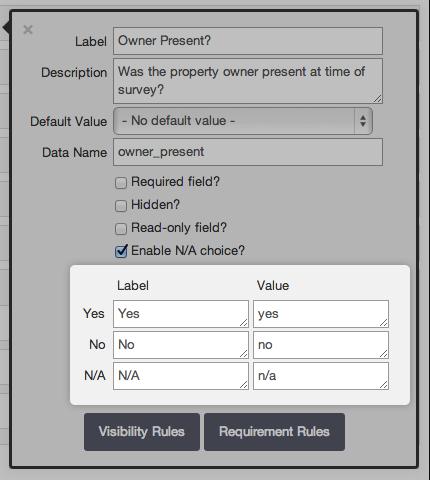 Checklist fields in App Designer
