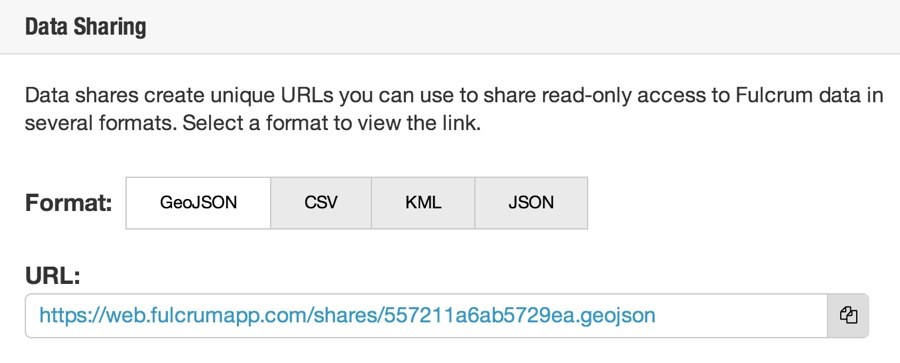 Enable GeoJSON share