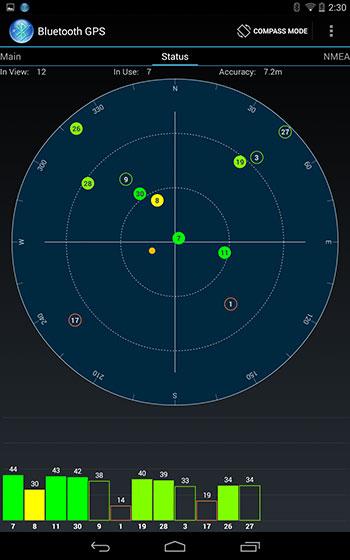 Bluetooth GPS app