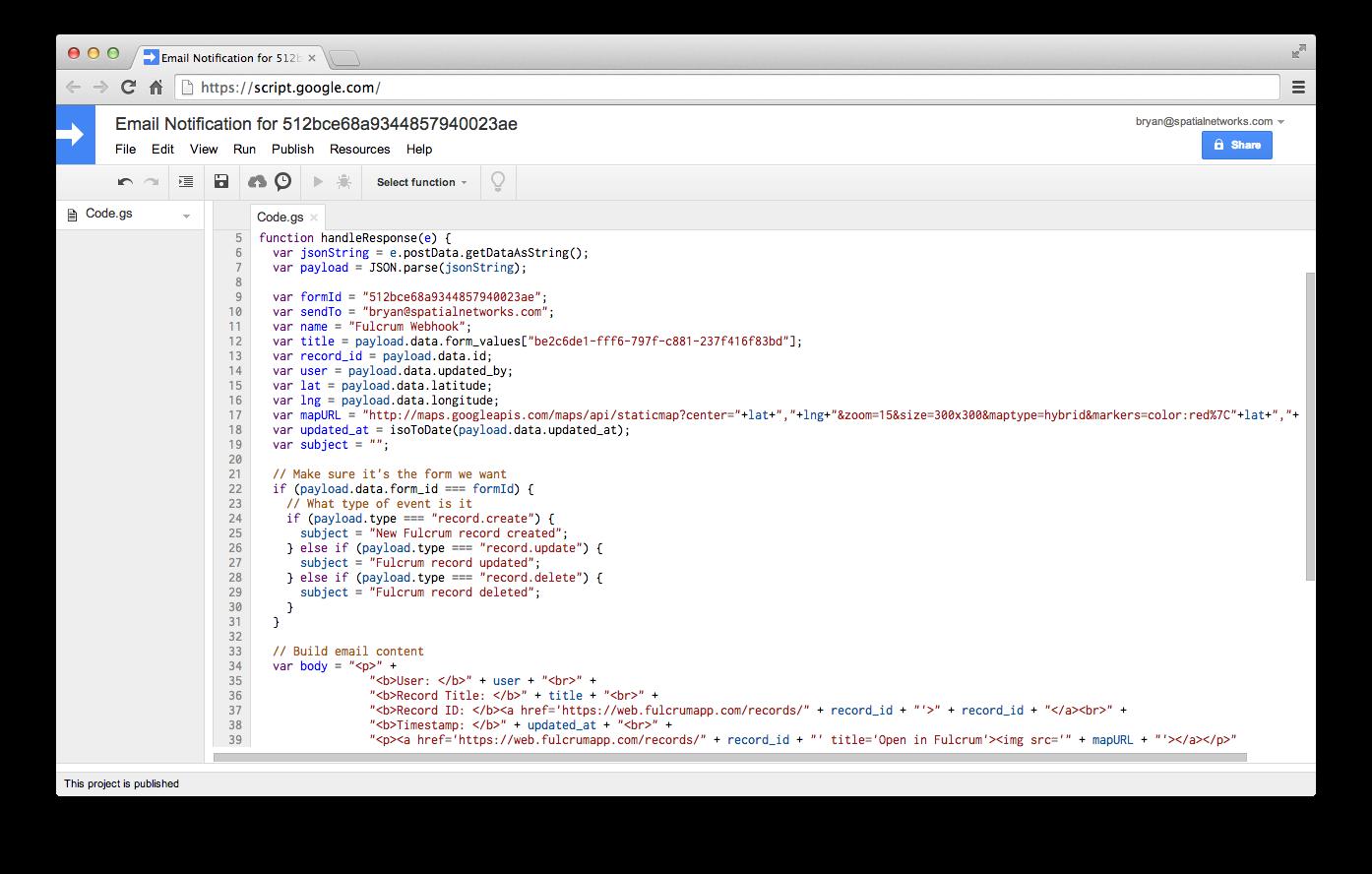 Apps Script Example