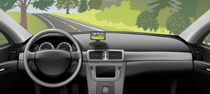 Koomus windshield mount