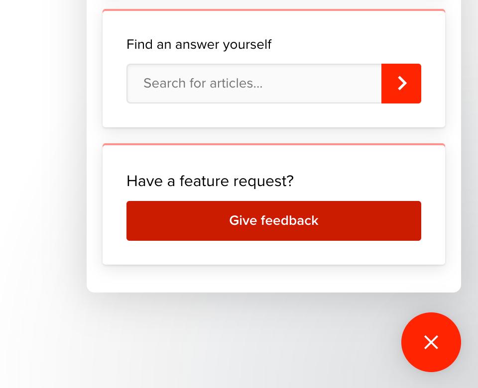 Fulcrum Feature Requests
