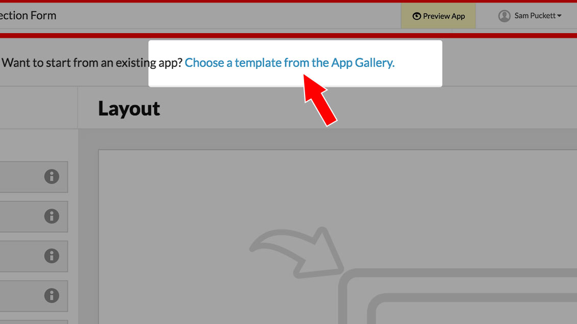 image of the Fulcrum app builder with Step 2 highlighted