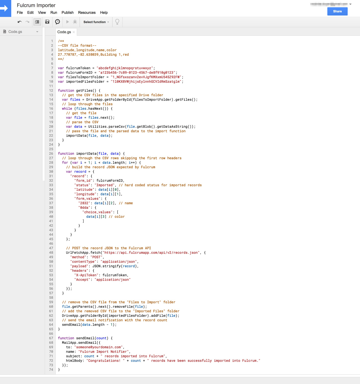 Google Apps Script Code