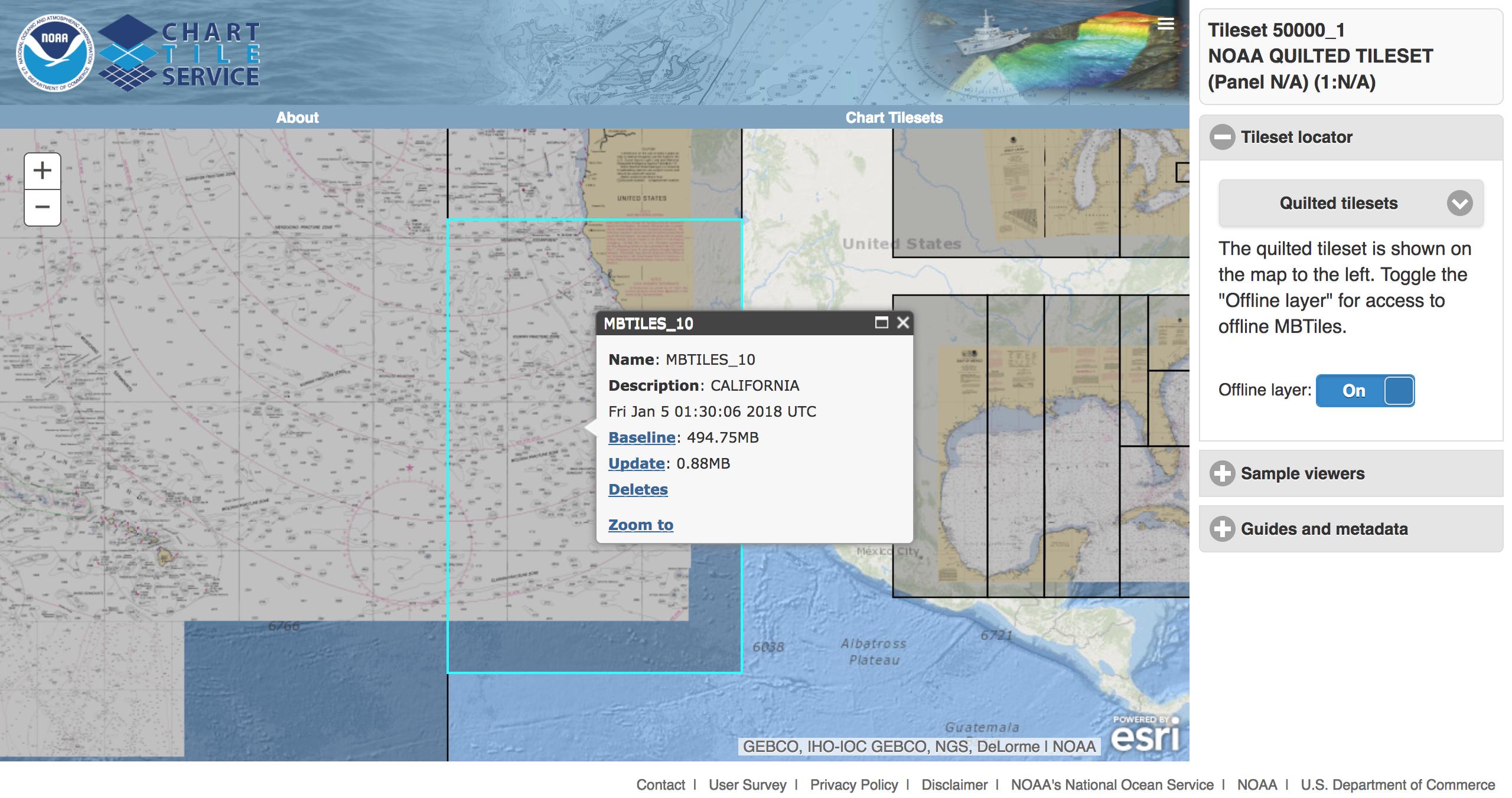 NOAA Chart Tile Service