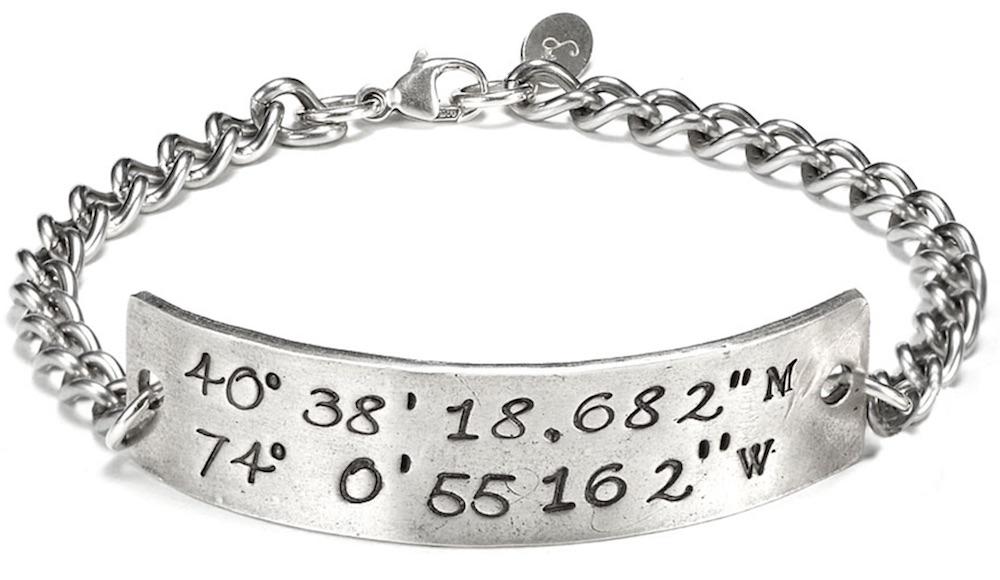 Latitude Longitude Bracelet