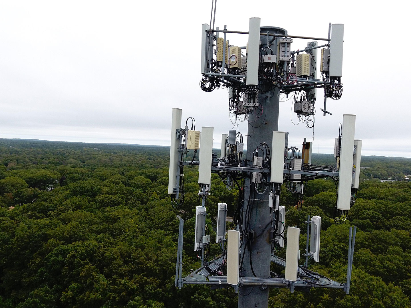 drone inspection of cell tower