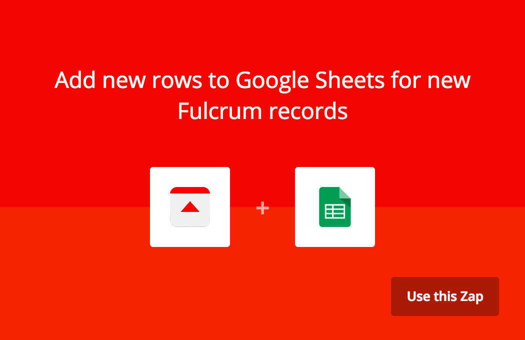 Add new rows to Sheets for new Fulcrum records