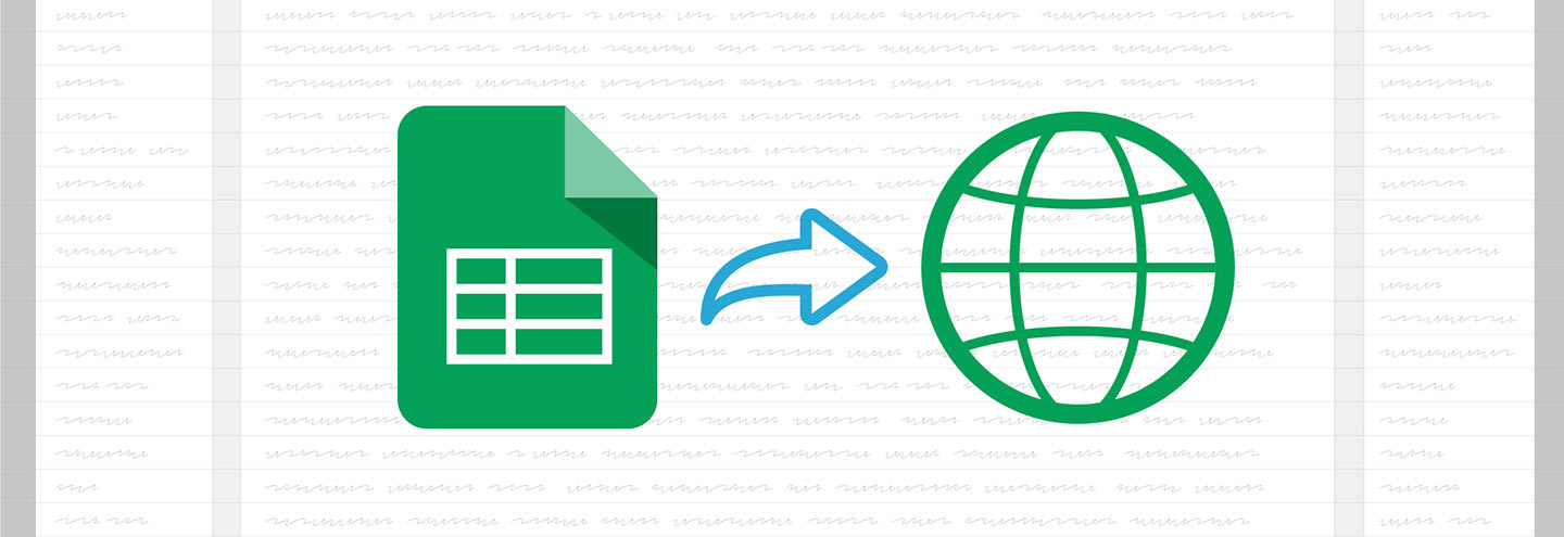 Sharing to the web with Google Sheets