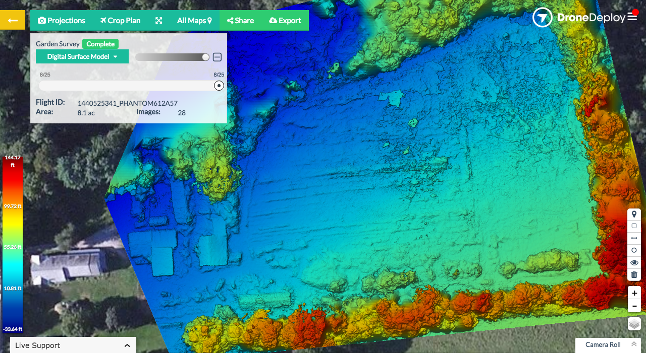 DroneDeploy Digital Surface Model
