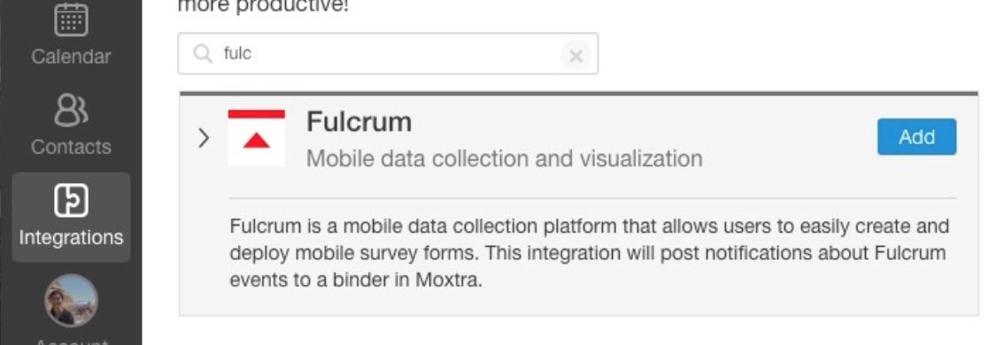 Moxtra Set up step 1