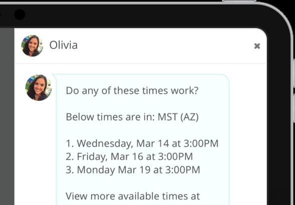 High volume interview scheduling online tool