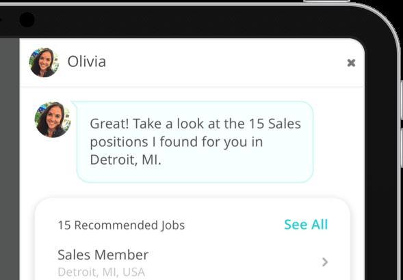 personalized AI job recruiting messaging