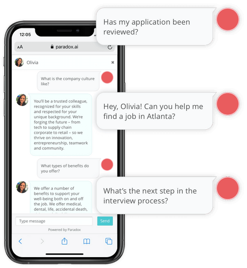 best chatbot for recruiting - Paradox Care