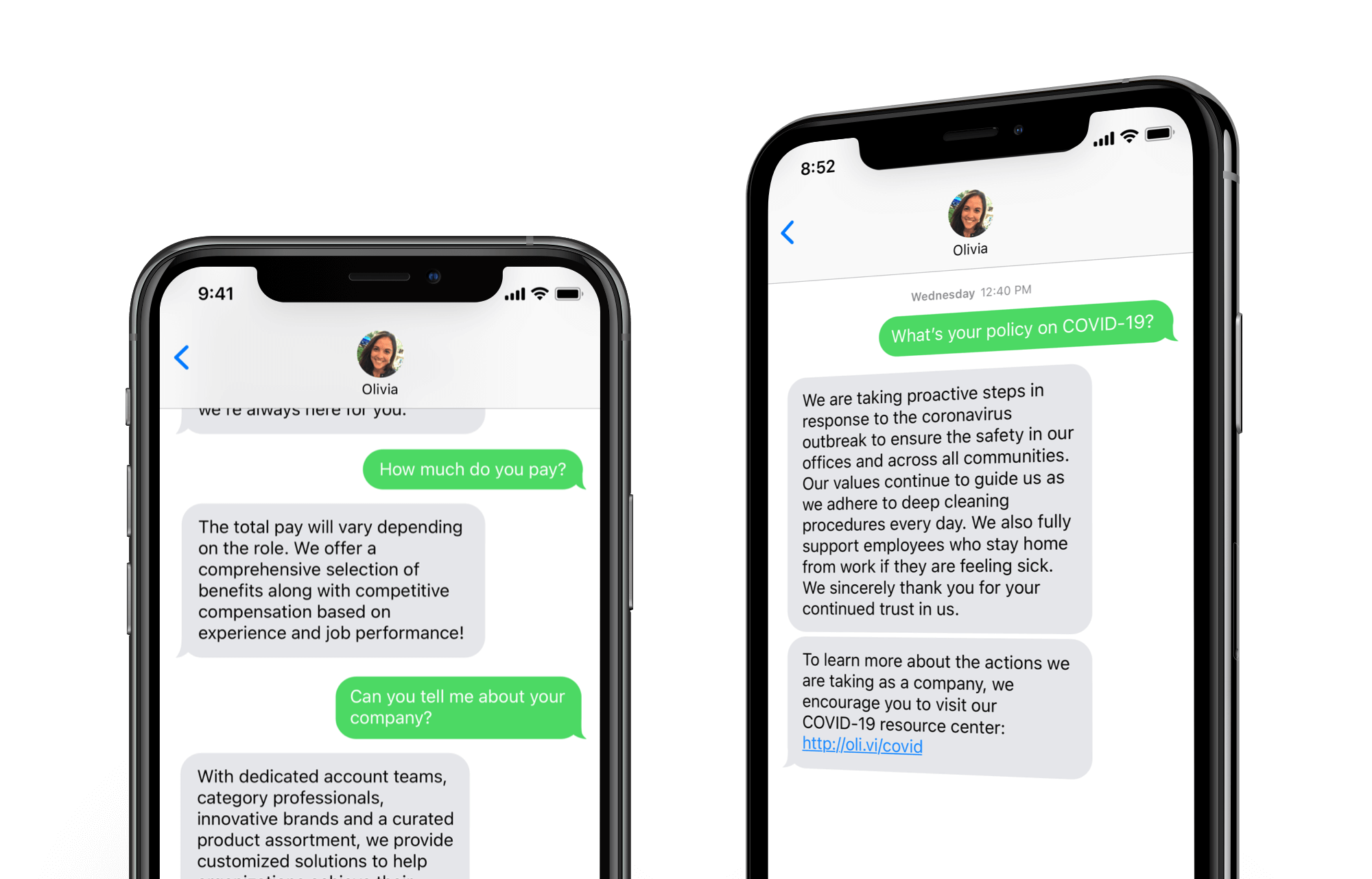 Quickly answer job candidates' questions with AI recruiting assistant Olivia from Paradox