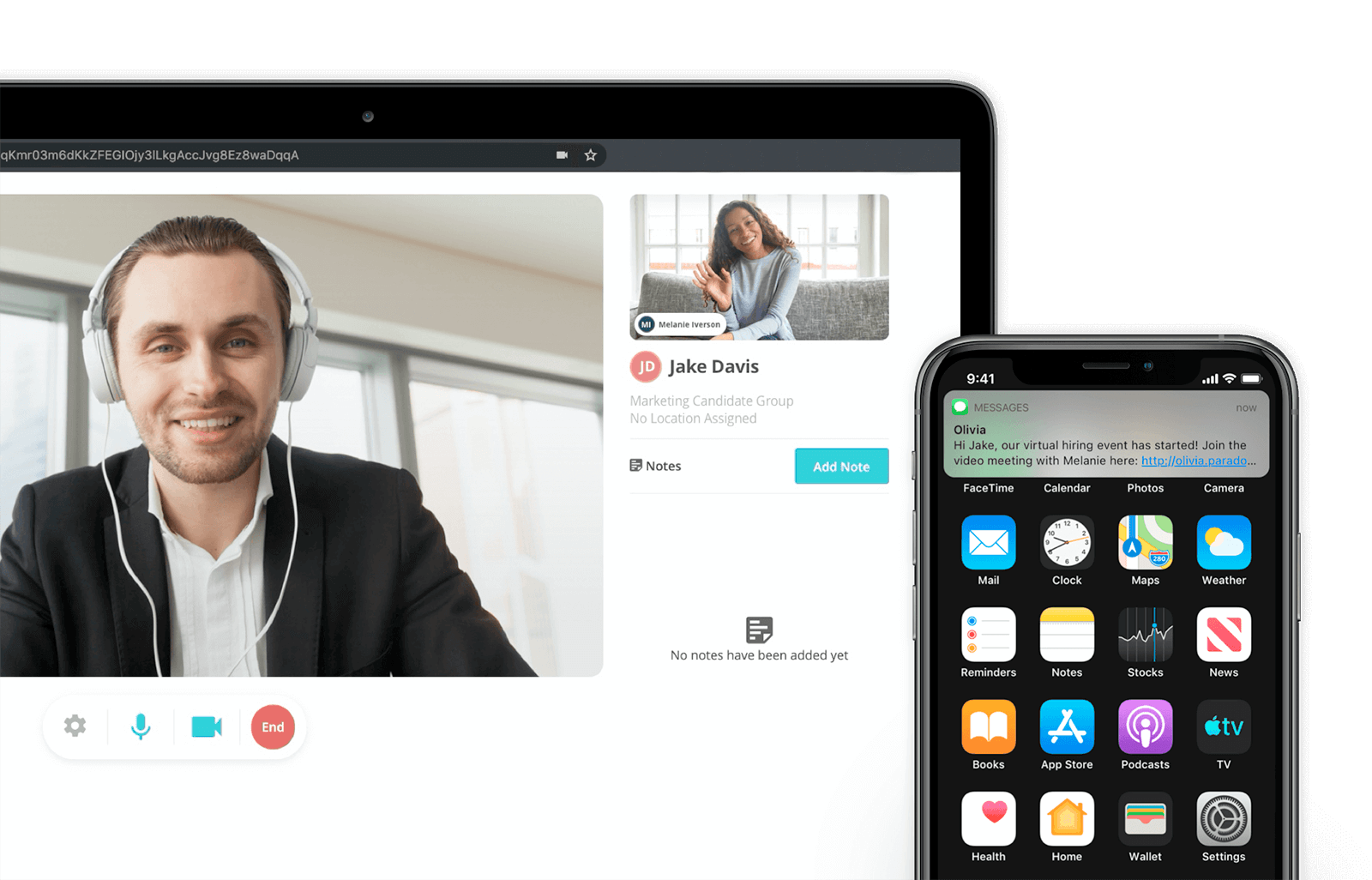 virtual hiring events with video chat feature