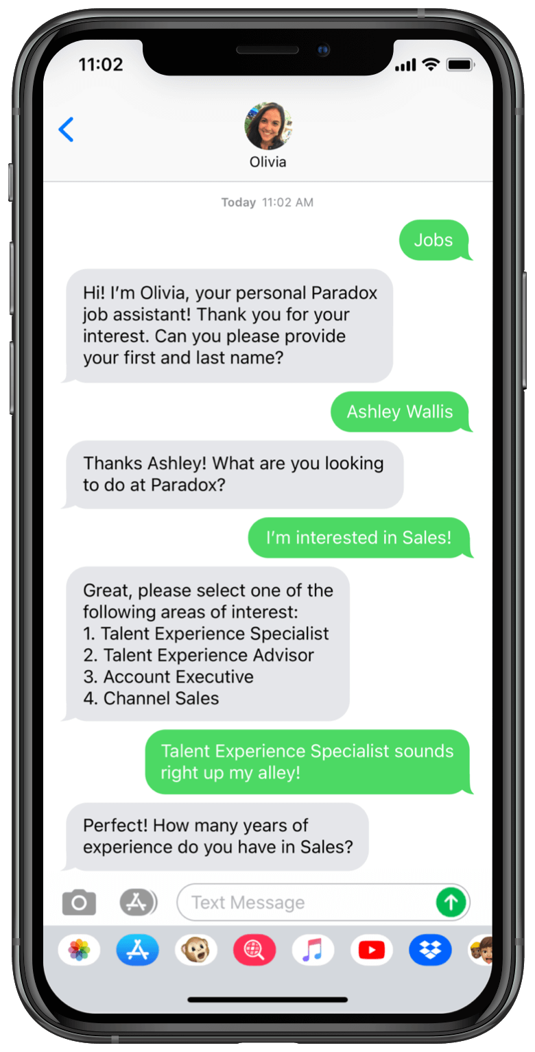 Make applying to jobs as simple as sending a text — and automatically screen candidates in real-time.