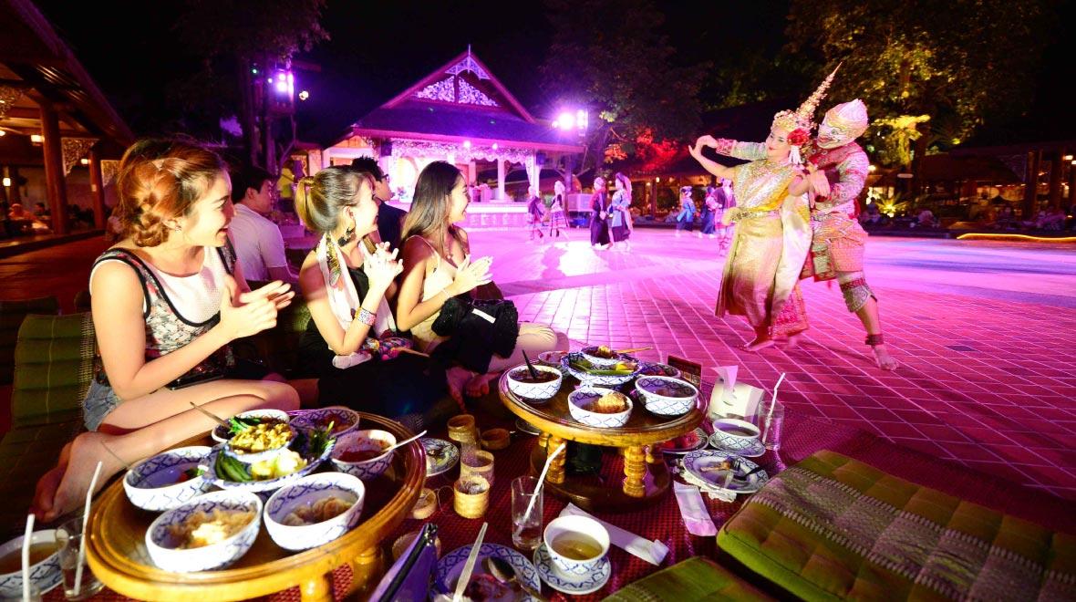 Lanna Khantoke Dinner with northern cultural performance