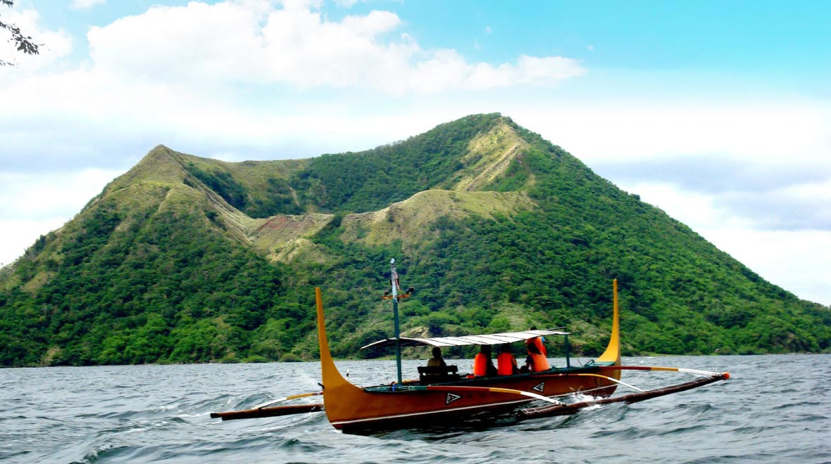Boat ride across Taal Lake