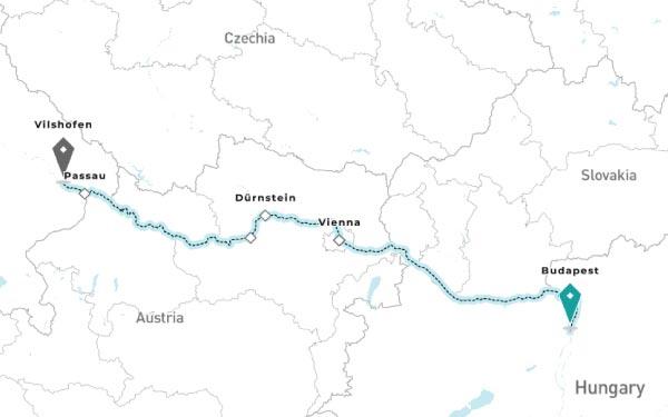 BUDAPEST - VIENNA - DURNSTEIN - MELK - PASSAU - VILSHOFEN