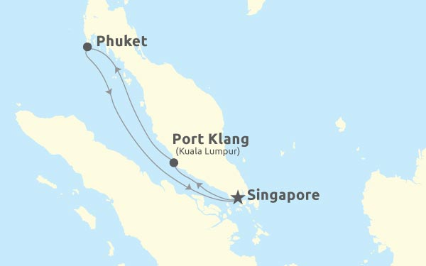 Singapore - Port Klang - Phuket - Singapore