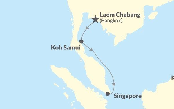 Laem Chabang - Koh Samui - Singapore