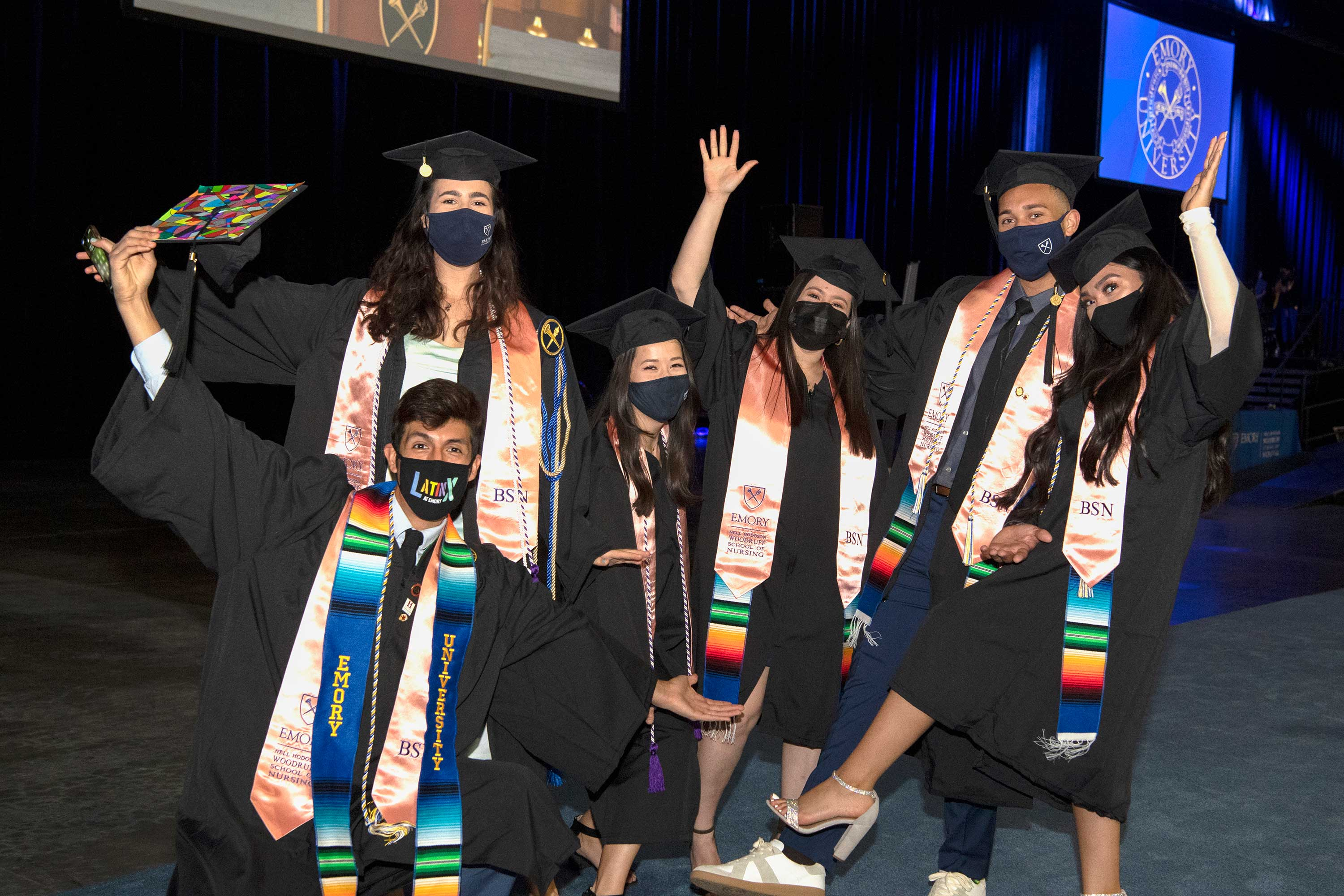 Class of 2021 graduates at commencement ceremony