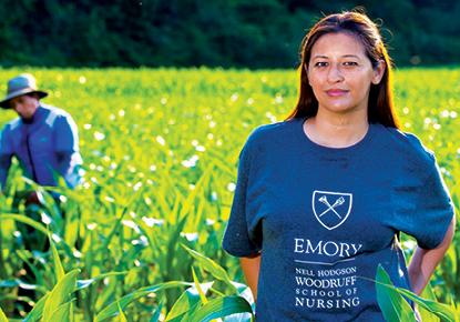 Emory Nursing magazine cover
