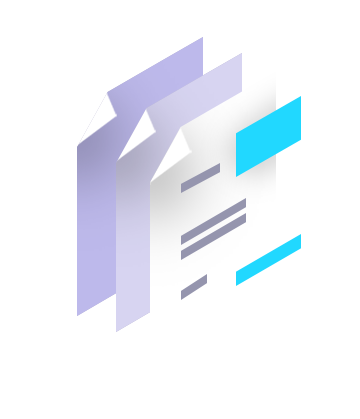 Illustration of a stack of forms