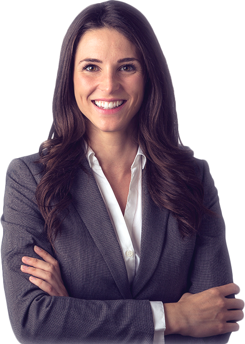 Smiling female lawyer with her arms crossed