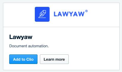 Lawyaw Clio app store card