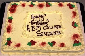 Celebration cake for the students.