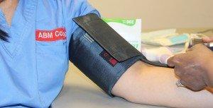 Blood pressure arm band.