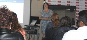 Violet Ried presenting.